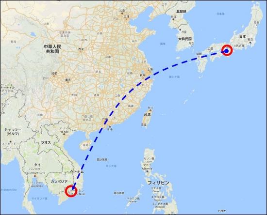 ベトナムの位置201609141920