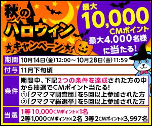 CMサイト CMくじ 秋のハロウィンキャンペーン