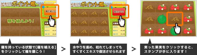 Gポイント 勇者くんの栽培日記 ポイント畑 ルール