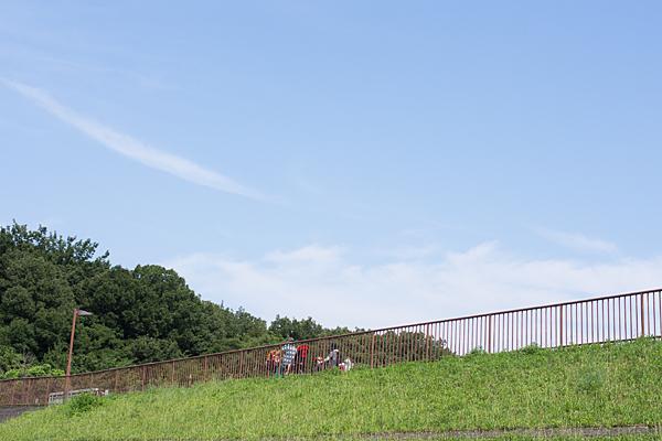周回コースと初夏の青空