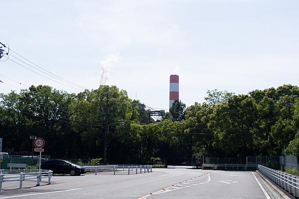 春日井王子製紙の煙突