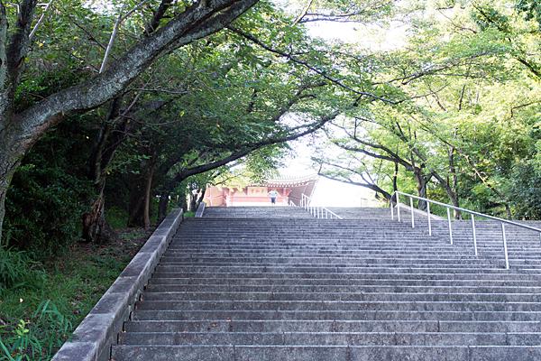 平和堂下の階段