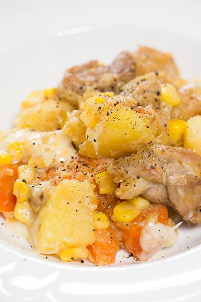 ジャガイモ鶏肉マヨチーズ
