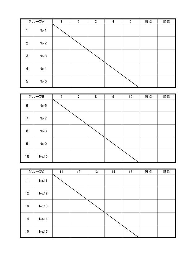タイマンリーグ表