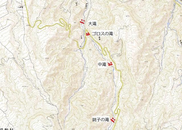 赤城川滝位置図