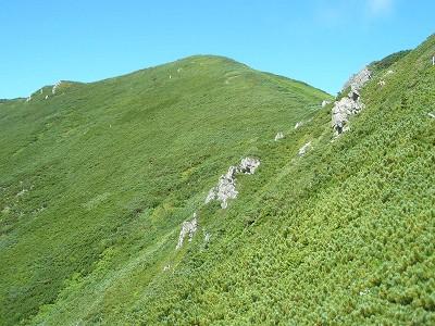 源頭からチロロ岳山頂