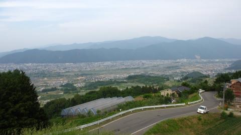 千曲川展望公園、登った割に棚田があんまり見えない^^;