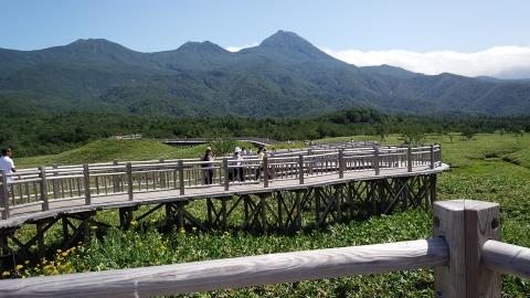 知床連山、素晴らしいお天気~♡