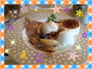 白桃のクレープ☆彡