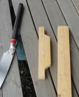 201604 燻製箱 取っ手の木材加工