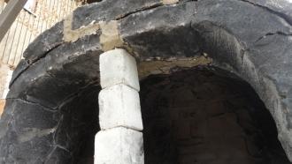 201605 粘土窯の補修 窯口補修完了