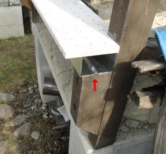 201605 粘土窯の補修 軽量鉄骨の珪カル板
