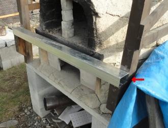 201605 粘土窯の補修 軽量鉄骨固定