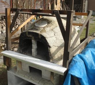 201605 粘土窯の補修 窯口の補修完了しました