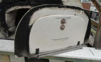 201604 粘土窯の補修 扉のクラック補修 裏側