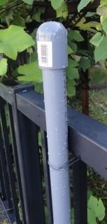 201607 庭の日除け さや管の設置状況