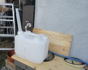 201609 ガーデンシンク給水システム改良 ポリタン