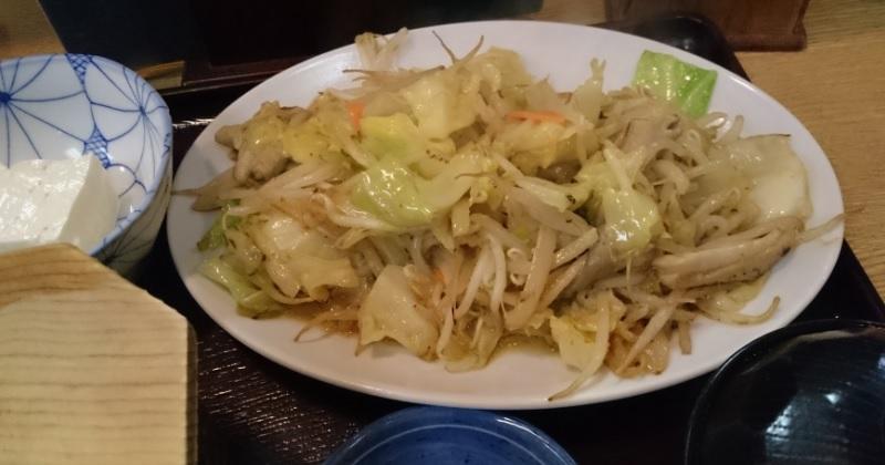 160425ホルモン炒め定食