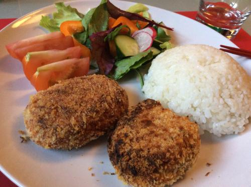 fish cakes dinner