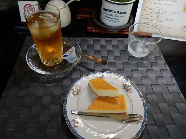 酒粕のチーズケーキセット