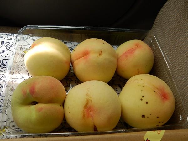 ハンダマさんで購入桃