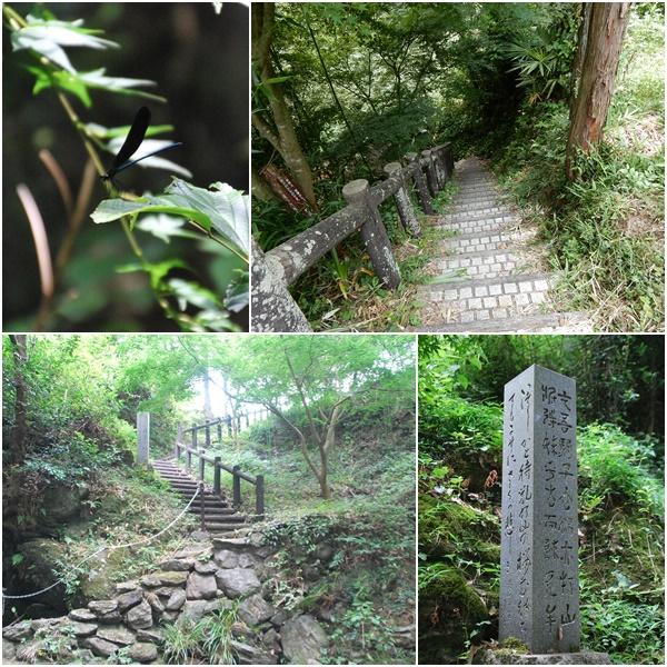 飛び越え石へ続く階段