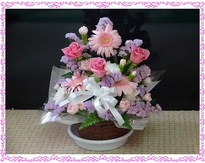 寿羅ちゃんへお花