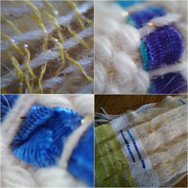 さをり織のスカーフ