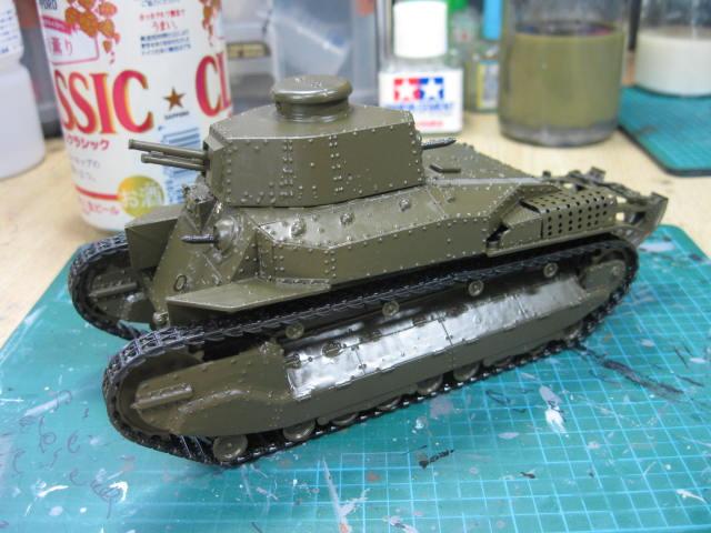 八九式中戦車甲型 塗り終わり