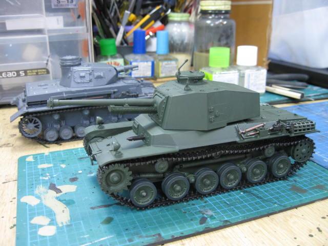 三式中戦車 基本塗装終了
