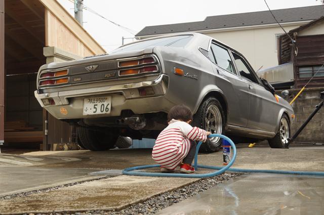 洗車の手伝い