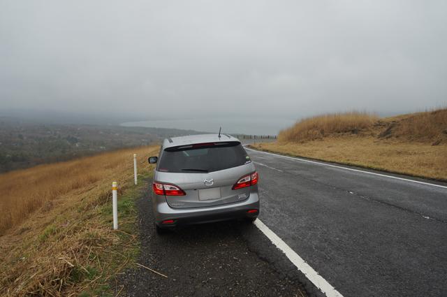 山中湖の見える丘にて