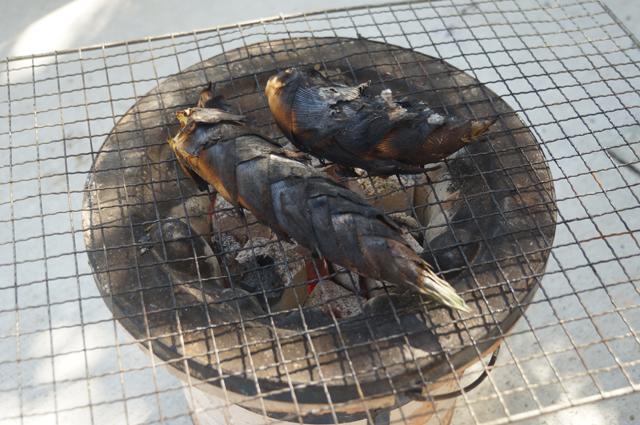 炭火網焼 筍