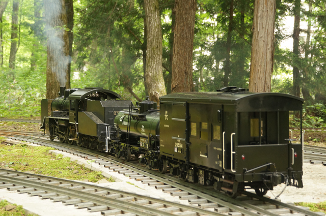 C56が牽引する小貨物列車