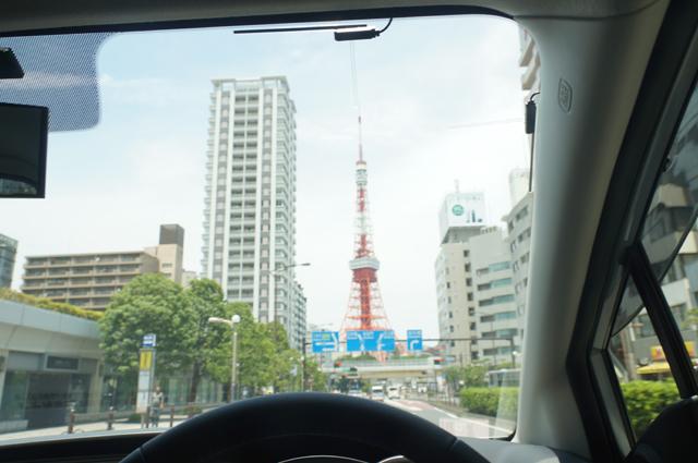 三田より東京タワーを