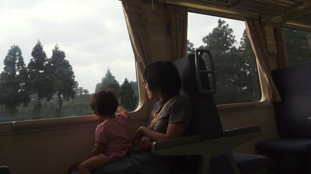 朝の飯山線にて