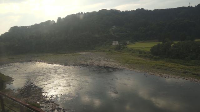 飯山線より信濃川を