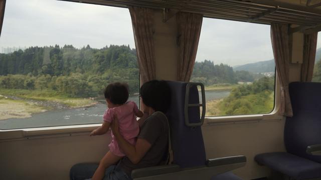 飯山線の車窓 信濃川