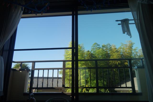 今から見える今日の青空 台風一過