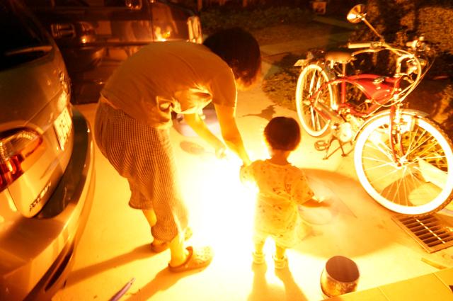 家族で花火2016日野