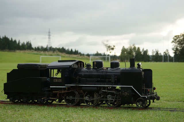 秋の風情を感じながら、小さな汽車