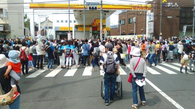 新撰組祭り、甲州街道にて