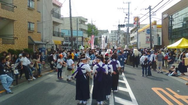 甲州街道にて新撰組祭り