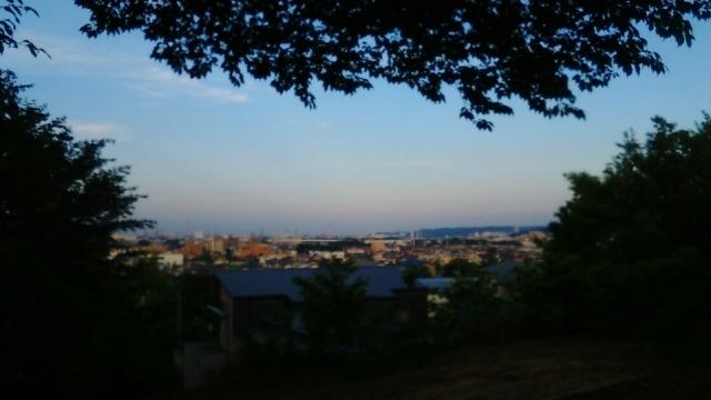 日野・神明から見える夕景