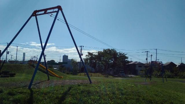 七ツ塚公園のターザンマシーン