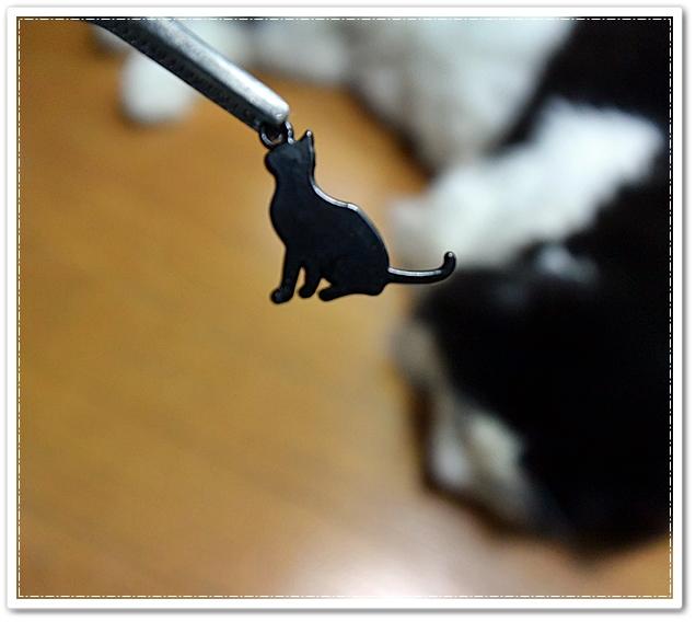 100均(セリアさん)で買った猫パーツ