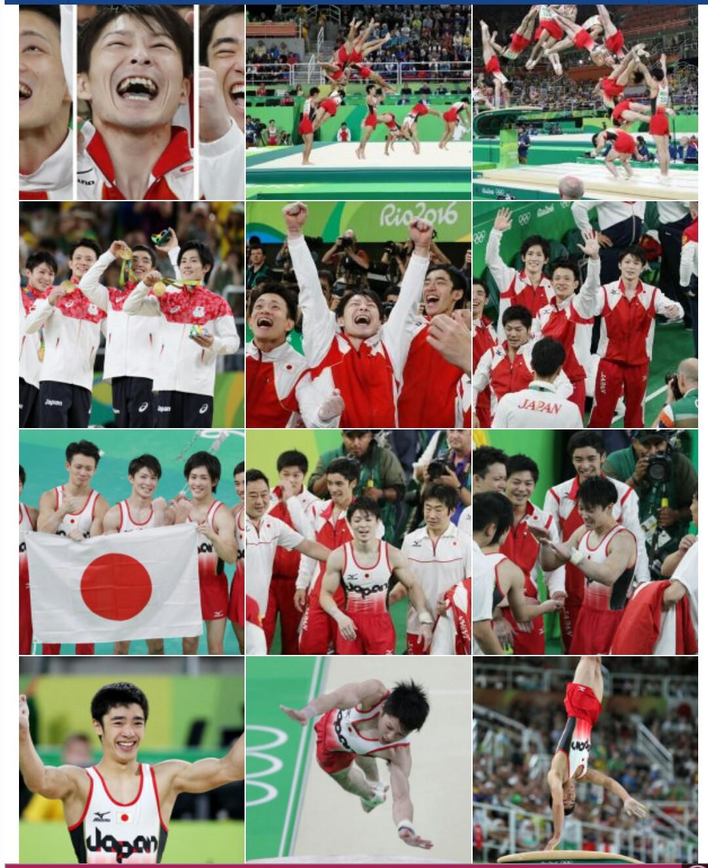 体操男子団体金メダルの笑顔