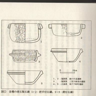 各種の滑石製石鍋