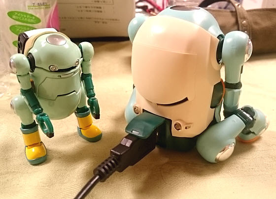 USBで充電中?