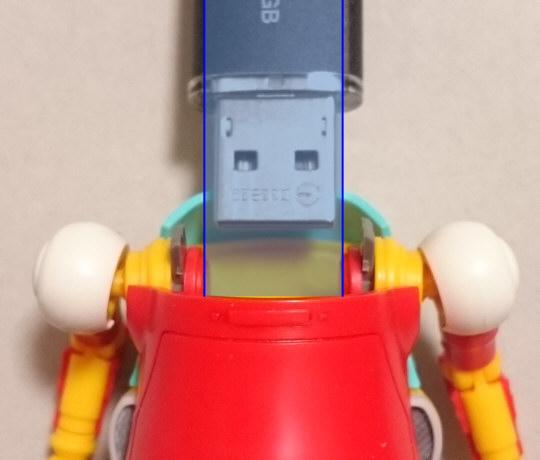 USBコネクタとの幅比較